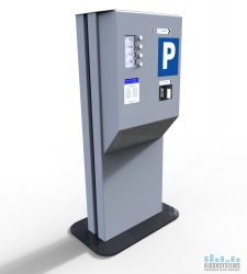 Toll parking gate kiosk