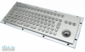 industry grade keyboard with trackball