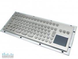 industry grade keyboard with trackball
